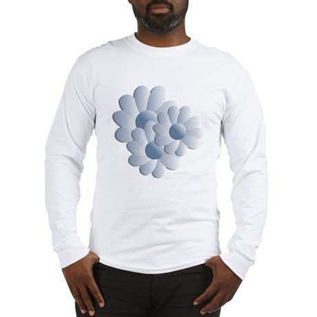 Pretty Daisy Trio - Blue Long Sleeve T-Shirt
