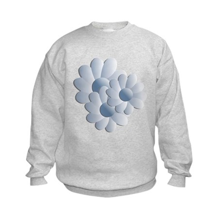 Pretty Daisy Trio - Blue Kids Sweatshirt
