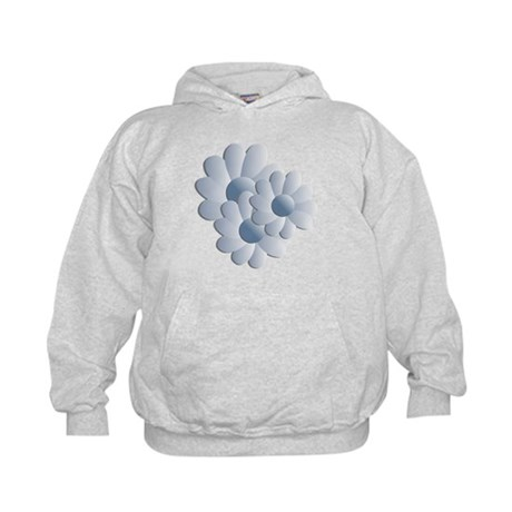 Pretty Daisy Trio - Blue Kids Hoodie