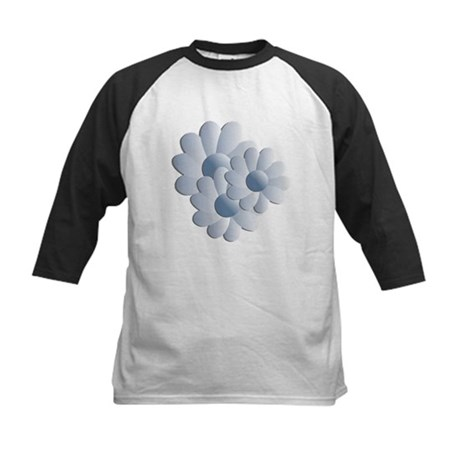 Pretty Daisy Trio - Blue Kids Baseball Jersey