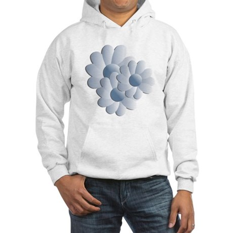 Pretty Daisy Trio - Blue Hooded Sweatshirt