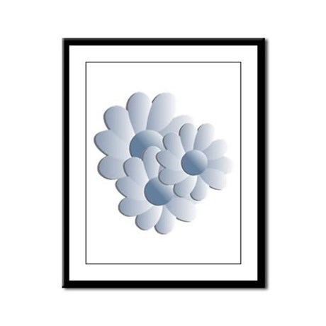 Pretty Daisy Trio - Blue Framed Panel Print