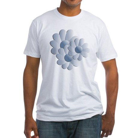 Pretty Daisy Trio - Blue Fitted T-Shirt
