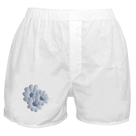 Pretty Daisy Trio - Blue Boxer Shorts