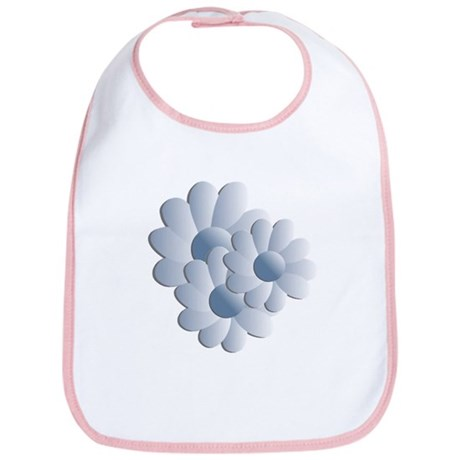 Pretty Daisy Trio - Blue Bib