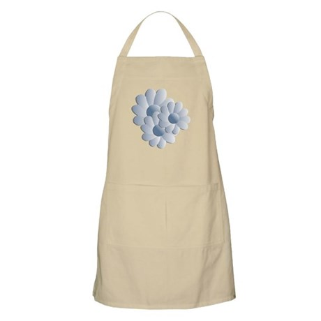 Pretty Daisy Trio - Blue BBQ Apron
