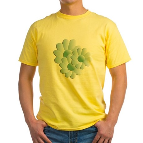 Pretty Daisy Trio - Green Yellow T-Shirt