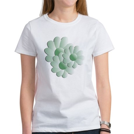 Pretty Daisy Trio - Green Women's T-Shirt
