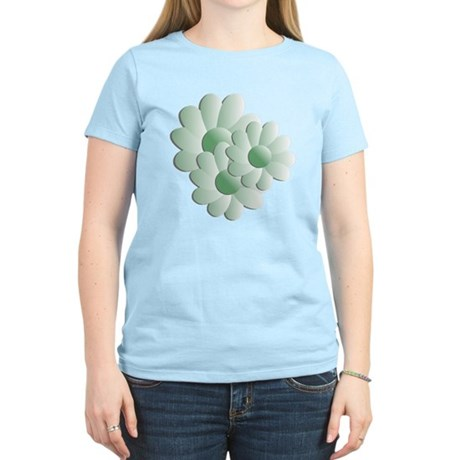 Pretty Daisy Trio - Green Women's Light T-Shirt