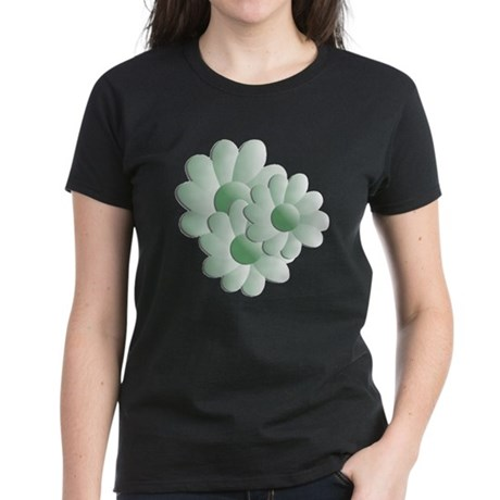 Pretty Daisy Trio - Green Women's Dark T-Shirt