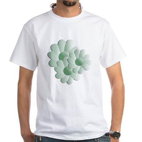 Pretty Daisy Trio - Green White T-Shirt