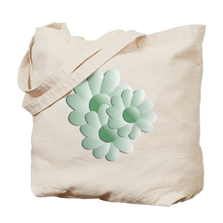 Pretty Daisy Trio - Green Tote Bag
