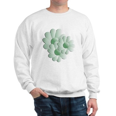 Pretty Daisy Trio - Green Sweatshirt