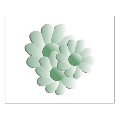 Pretty Daisy Trio - Green Small Poster