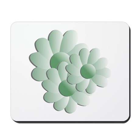 Pretty Daisy Trio - Green Mousepad