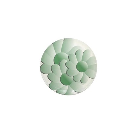 Pretty Daisy Trio - Green Mini Button