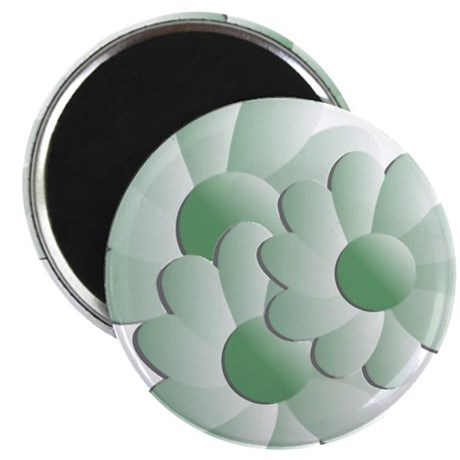 "Pretty Daisy Trio - Green 2.25"" Magnet (100 pack)"