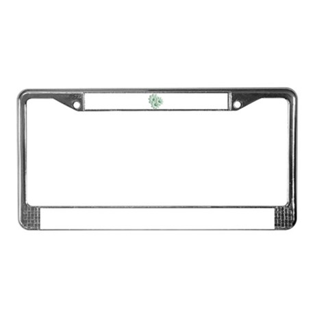 Pretty Daisy Trio - Green License Plate Frame
