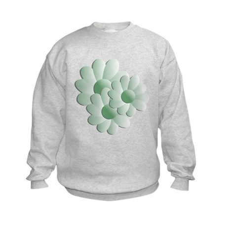 Pretty Daisy Trio - Green Kids Sweatshirt