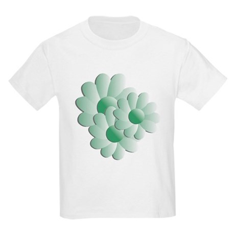 Pretty Daisy Trio - Green Kids Light T-Shirt