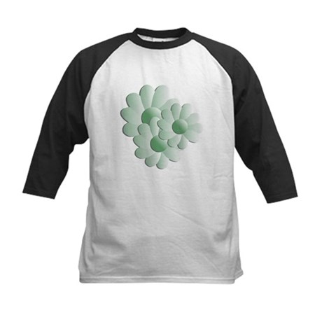 Pretty Daisy Trio - Green Kids Baseball Jersey