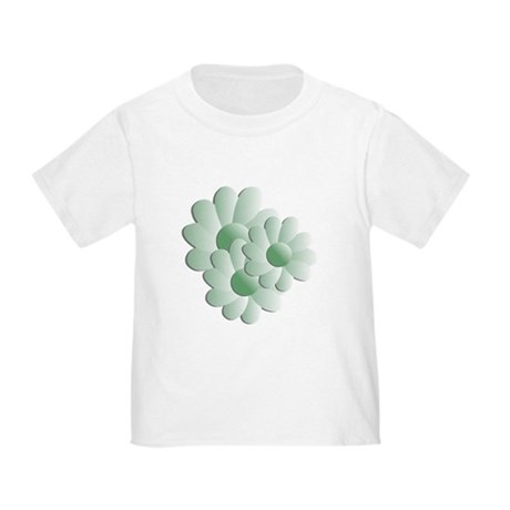 Pretty Daisy Trio - Green Toddler T-Shirt