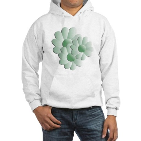 Pretty Daisy Trio - Green Hooded Sweatshirt