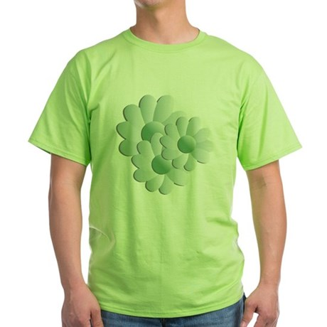 Pretty Daisy Trio - Green Green T-Shirt