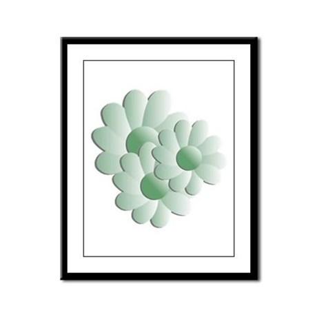 Pretty Daisy Trio - Green Framed Panel Print