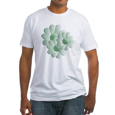 Pretty Daisy Trio - Green Fitted T-Shirt