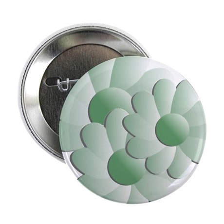 "Pretty Daisy Trio - Green 2.25"" Button (10 pack)"