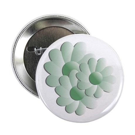 "Pretty Daisy Trio - Green 2.25"" Button (100 pack)"