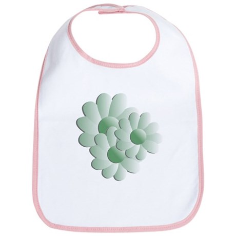 Pretty Daisy Trio - Green Bib