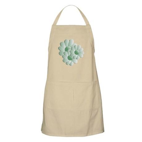 Pretty Daisy Trio - Green BBQ Apron