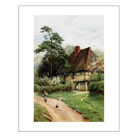 English Country Cottage Small Poster