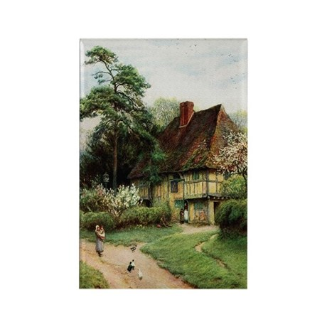 English Country Cottage Rectangle Magnet