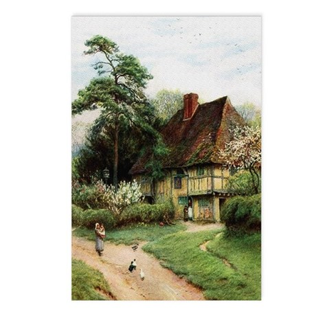 English Country Cottage Postcards (Package of 8)