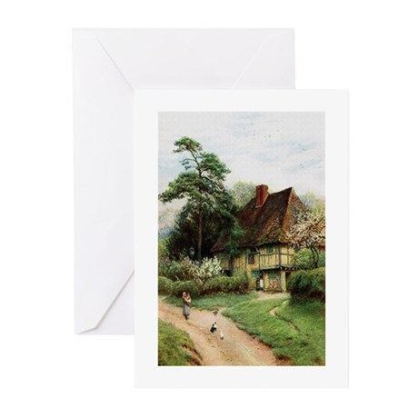 English Country Cottage Greeting Cards (Pk of 20)