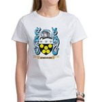 Mouse Error Cartoon Women's V-Neck Dark T-Shirt