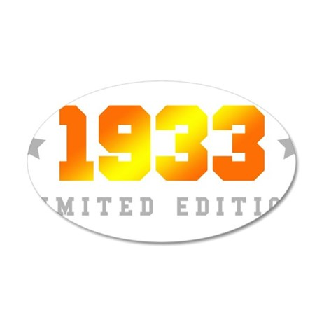 Limited Edition 1933 Birthday Wall Sticker