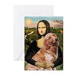 Mona's Golden Retriever Greeting Cards (Pk of 20)