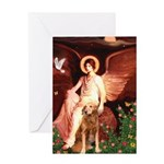 Angel & Golden Retrieve Greeting Card