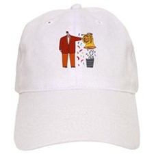 Funny French Horn Cartoon Baseball Cap