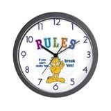 Break Rules Garfield Wall Clock