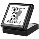 Bro Proudly Serves 2 - USAF Keepsake Box
