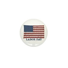 Funny Labor day Mini Button (100 pack)