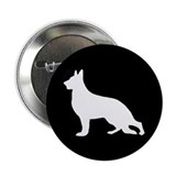 White German Shepherd Button