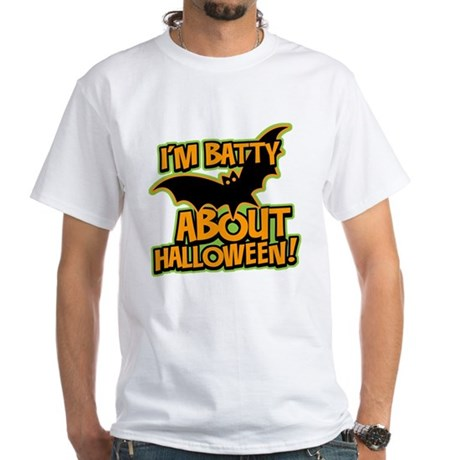 I'm Batty Halloween White T-Shirt