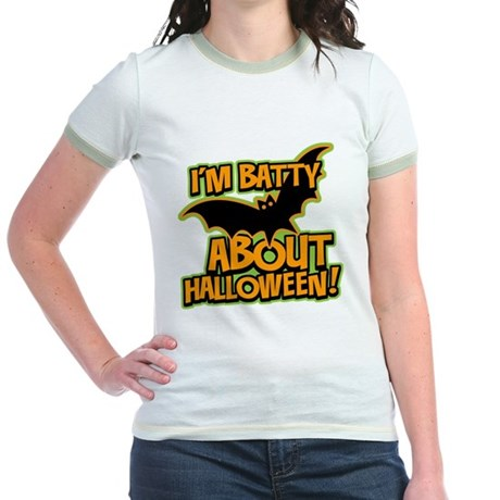 I'm Batty Halloween Jr. Ringer T-Shirt