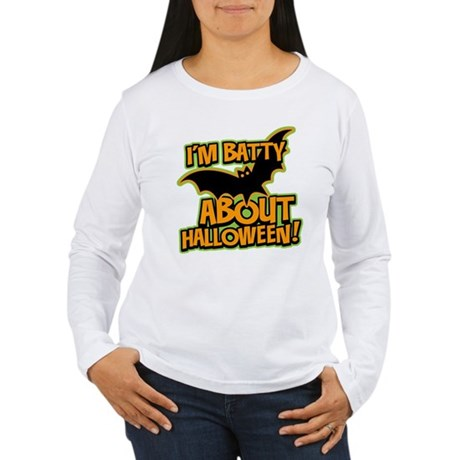 I'm Batty Halloween Women's Long Sleeve T-Shirt